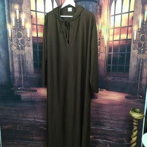 Brown Jedi Robe with Hood Costume Monk M/L